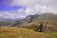 Scaletta della scala su Cadair Idris Immagine Stock