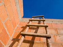 Scaletta di legno fotografie stock libere da diritti