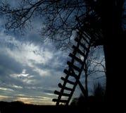 Scaletta di legno Fotografie Stock