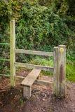 Scaletta di legno lungo il sentiero per pedoni immagine stock libera da diritti