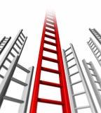 Scaletta di successo Immagine Stock