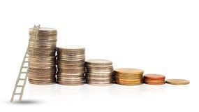 Scaletta e moneta fotografia stock libera da diritti