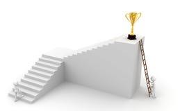 Scaletta e trofei Fotografie Stock