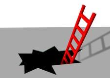 Scaletta rossa Fotografia Stock Libera da Diritti
