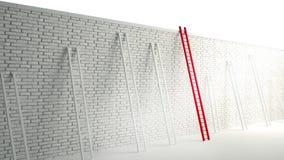 Scaletta sopra la parete Fotografie Stock Libere da Diritti