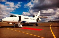 Scaletta in un jet privato Immagine Stock Libera da Diritti