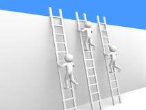 scalette rampicanti della gente 3d. Fotografia Stock Libera da Diritti