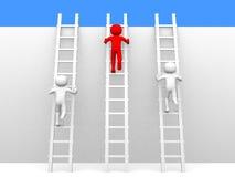 scalette rampicanti della persona 3d Fotografia Stock Libera da Diritti