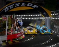 Slot cars royalty free stock images