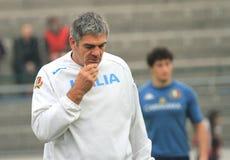SCALFISCA l'primo allenatore di MALLETT (RSA) di rugby dell'Italia Fotografia Stock Libera da Diritti