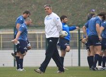 SCALFISCA l'primo allenatore di MALLETT (RSA) di rugby dell'Italia Fotografie Stock Libere da Diritti
