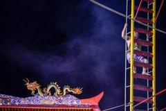 Scali il coltello della scala nel festival vegetariano di Phuket fotografia stock libera da diritti