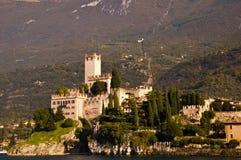 Scalieri Castle on Lake Garda Italy Royalty Free Stock Images