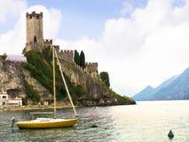 Scalieri Castle in Malcesine on Lake Garda Italy Royalty Free Stock Photos