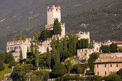 Scalieri Castle in Malcesine on Lake Garda Italy Stock Photo
