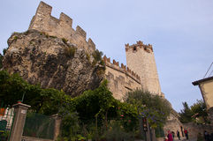 Scalieri Castle at Malcesine on Lake Garda in Northern Italy Royalty Free Stock Images