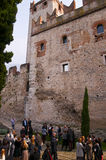 Scalieri Castle at Malcesine on Lake Garda in Northern Italy Royalty Free Stock Image
