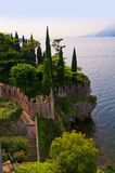 Scalieri Castle at Malcesine on Lake Garda in Northern Italy Stock Photography