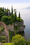 Scalieri Castle at Malcesine on Lake Garda in Northern Italy Stock Photo