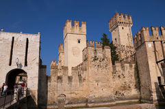 Scalieri Castle in Sirmione on Lake Garda Italy Stock Photo