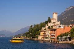 Scalieri kasztel na Jeziornym Gardzie Włochy Zdjęcie Stock