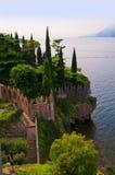 Scalieri kasztel przy Malcesine na Jeziornym Gardzie w Północnym Włochy Fotografia Stock