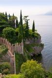 Scalieri kasztel przy Malcesine na Jeziornym Gardzie w Północnym Włochy Zdjęcie Stock