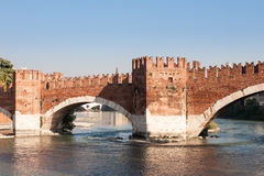 Scaliger Bridge, Verona, Italy Stock Photo