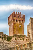 Scaliger Castle at Lazise, Lake Garda, Italy Royalty Free Stock Photos