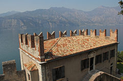 Scaliger Castle, partial view, Malcesine, Lake Garda Royalty Free Stock Images