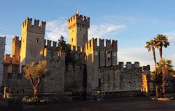 The Scaliger Castle in Sirmione Stock Photos