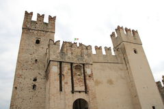 Scaliger castle sirmione. Scaliger castle in Sirmione Garda lake Stock Images