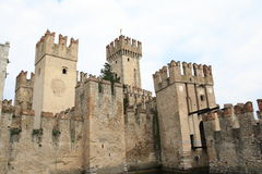 Scaliger castle sirmione. Scaliger castle in Sirmione Garda lake Stock Photos