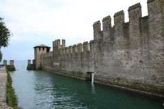 Scaliger castle sirmione. Scaliger castle in Sirmione Garda lake Royalty Free Stock Photos