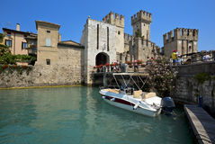 The Scaliger Castle in Sirmione, Italy Royalty Free Stock Image