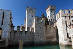 Scaliger Castle in Sirmione, Italy Stock Photography