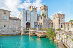Scaliger Castle in Sirmione, Italy Stock Images
