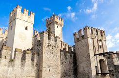 Scaliger Castle in Sirmione Royalty Free Stock Image