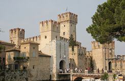 Scaliger Castle, Sirmione, Lake Garda, Italy Stock Images