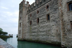 Scaliger Castle, Sirmione, Lake Garda, Italy. Scaliger Castle (Castello Scaligero/Rocca Scaligera) is an ancient medieval fortification-port that guard the royalty free stock images