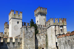 Scaliger Castle in Sirmione Royalty Free Stock Photo