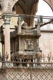 Scaliger gravvalv, en grupp av fem gotiska begravnings- monument som firar den Scaliger familjen i Verona Arkivbild