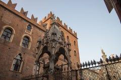 Scaliger grobowowie gothic w Verona, Włochy zdjęcia royalty free