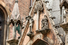 Scaliger tombs, a group of five gothic funerary monuments celebrating the Scaliger family in Verona. Italy Stock Image