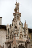 Scaliger tombs, a group of five gothic funerary monuments celebrating the Scaliger family in Verona. Italy Stock Images