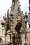 Scaliger tombs, a group of five gothic funerary monuments celebrating the Scaliger family in Verona. Italy Stock Photo