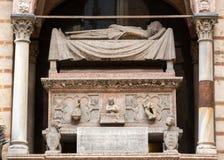 Scaligergraven, een groep van vijf gotische funerary monumenten die de Scaliger-familie in Verona vieren stock afbeelding