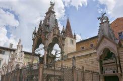 Scaligeri arch in Verona, Italy. Near Santa Maria Antica church Stock Photography