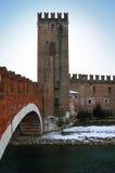 Scaligero Brücke in Verona, Italien Stockfotografie