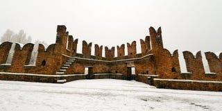 Scaligero Bridge in Winter - Verona Italy Royalty Free Stock Photography